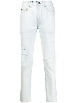 Htc Los Angeles slashed slim-fit jeans - White