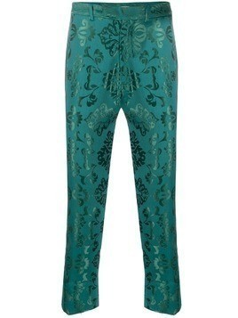 Ann Demeulemeester brocade embroidery trousers - Green