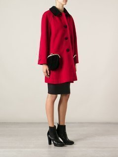 Moschino Vintage purse pocket coat - Red
