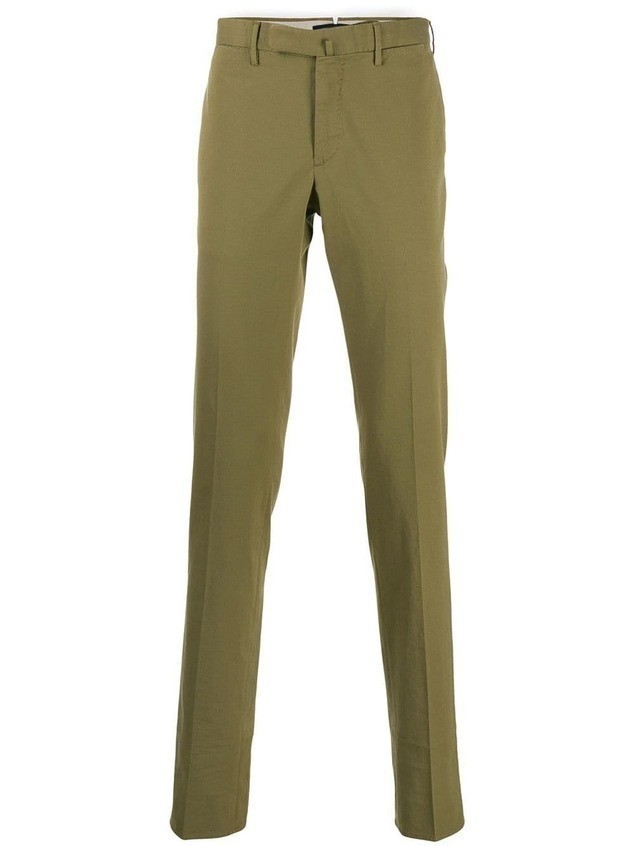Incotex slim fit tailored trousers - Green