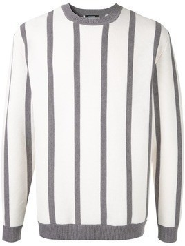 Guild Prime striped fitted sweater - White