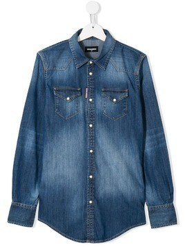Dsquared2 Kids TEEN denim shirt - Blue
