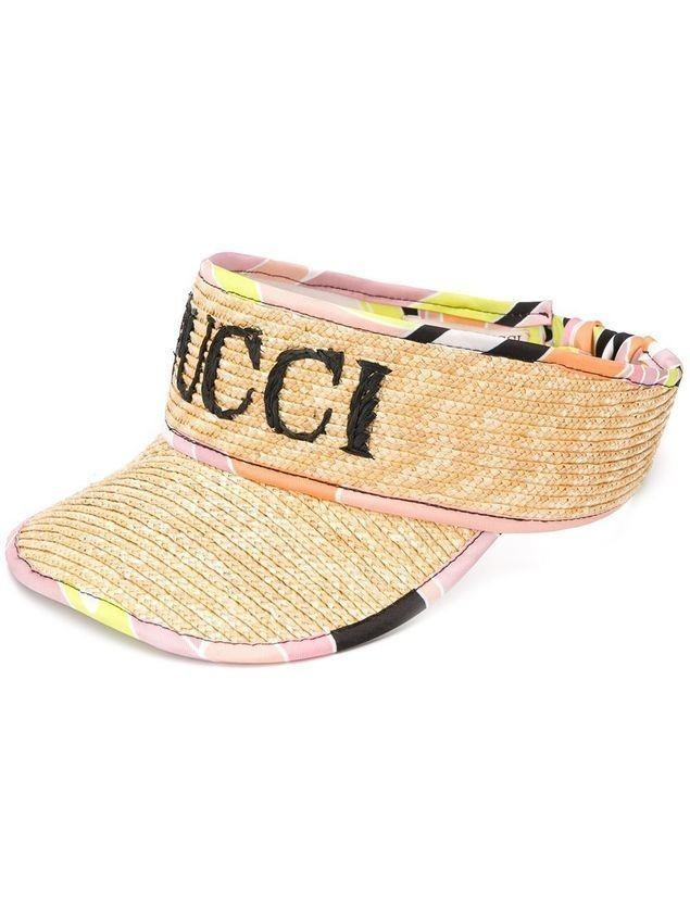 Emilio Pucci logo embroidered visor - Neutrals