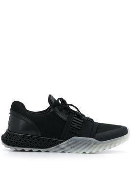 Philipp Plein logo plaque low top sneakers - Black
