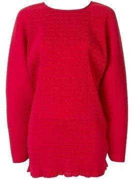 Christopher Esber oversized cocoon top - Red