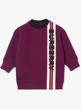 Burberry Kids logo print sweater - Red