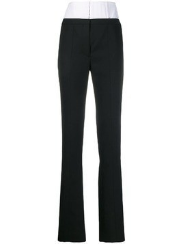 Mugler high waisted corset trousers - Black