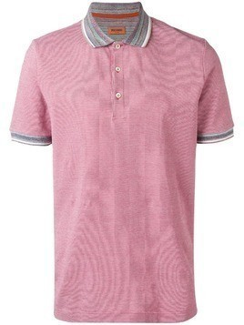 Missoni contrast collar polo shirt - Red
