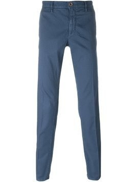 Incotex - front pleat trousers - Herren - Cotton/Spandex/Elastane - 31 - Blue