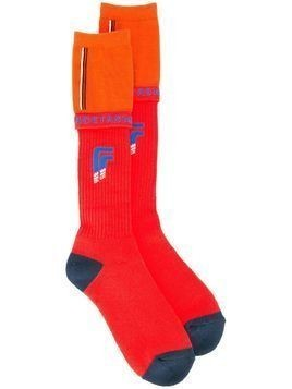Facetasm colour block socks - Red