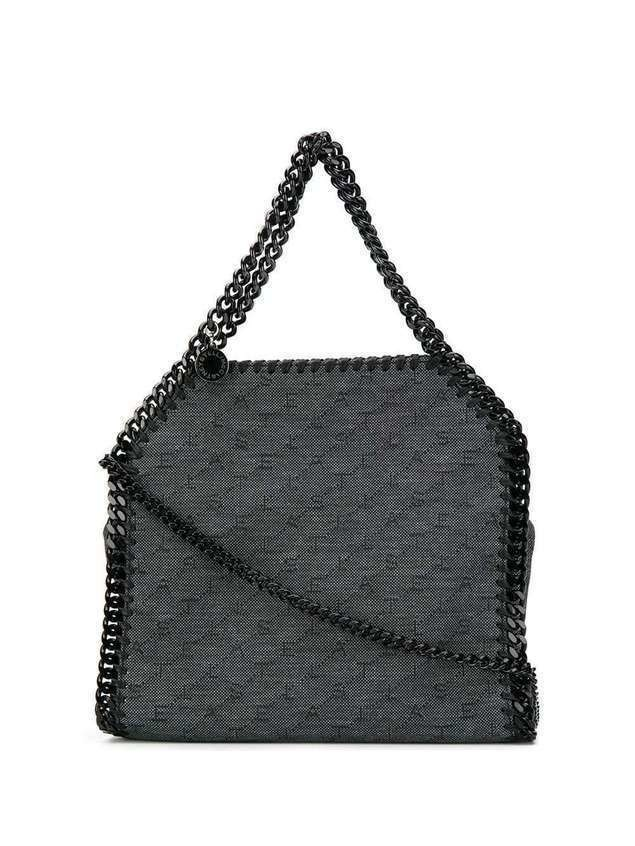 Stella McCartney mini Falabella monogram tote - Black
