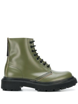 Adieu Paris x Études lace-up boots - Green