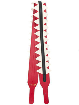 Visone colour block bag strap - Red