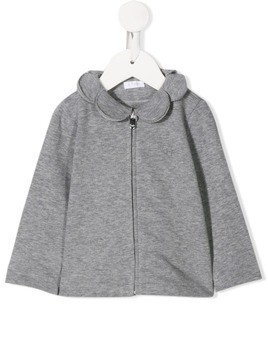 Il Gufo scalloped neck cardigan - Grey