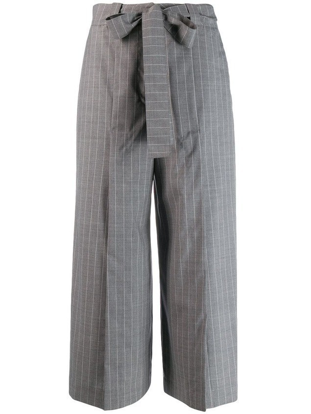 Each X Other pinstriped belted culottes - Grey
