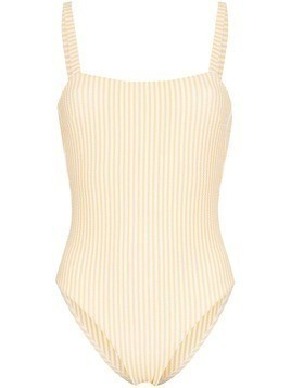 Asceno textured stripe swimsuit - Yellow