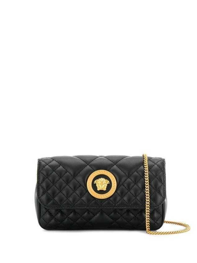 Versace quilted Medusa crossbody bag - Black
