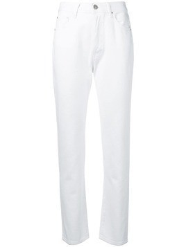 Don't Cry cropped slim-fit jeans - White