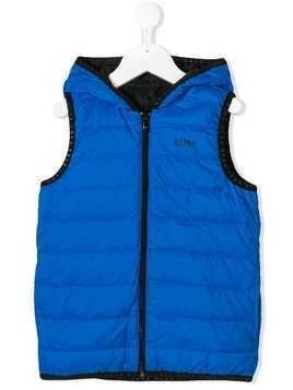 Boss Kids zipped padded gilet - Blue