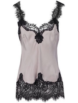 Gold Hawk longline lace cami - Grey