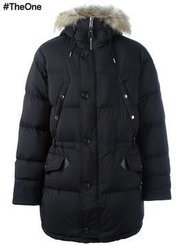 Burberry zipped parka coat - Black