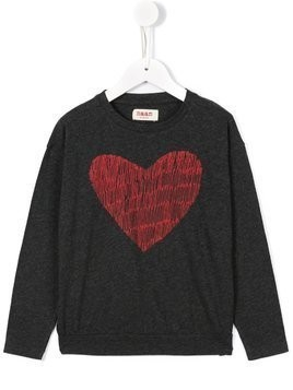 Maan heart print top - Grey