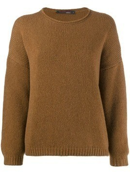 Incentive! Cashmere oversized jumper - Brown