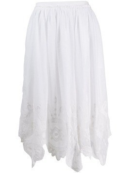 Love Shack Fancy Skyla midi skirt - White