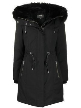 Mackage Anabel feather-hood parka - Black