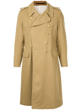 Kent & Curwen double breasted trench coat - Brown