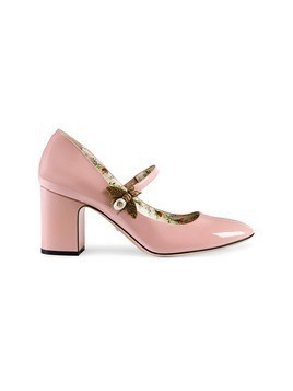 Gucci Patent leather mid-heel pump with bee - Pink&Purple
