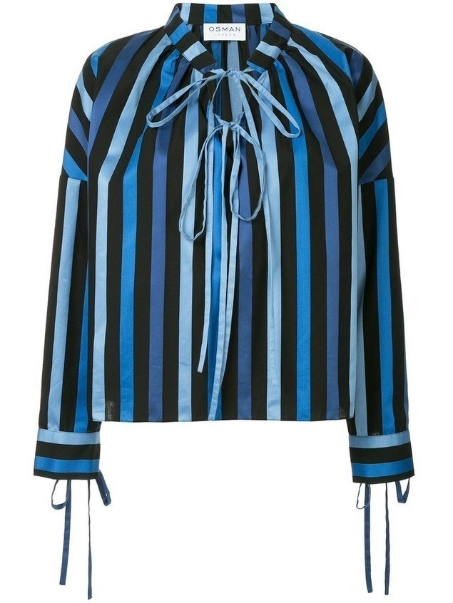 Osman Jacky striped top - Blue