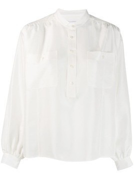 Hope band collar shirt - White