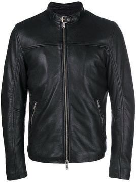 Dondup leather racer jacket - Black