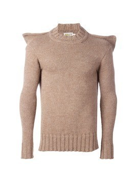 Walter Van Beirendonck Vintage square shoulder jumper - Brown