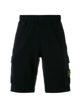 Stone Island logo badge Bermuda shorts - Black