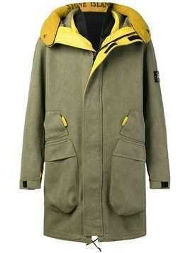 Stone Island fleece-lined parka - Green
