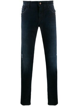 Dolce & Gabbana distressed straight leg jeans - Blue