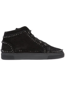 Louis Leeman studded hi-top sneakers - Black