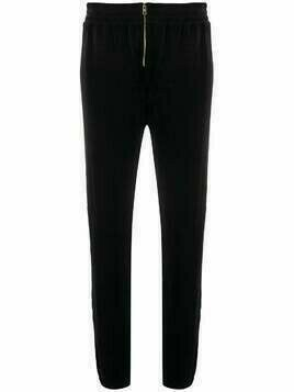 Juicy Couture velour zip jogger pant - Black