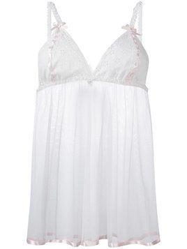 Folies By Renaud Antoinette Babydoll slip dress - White