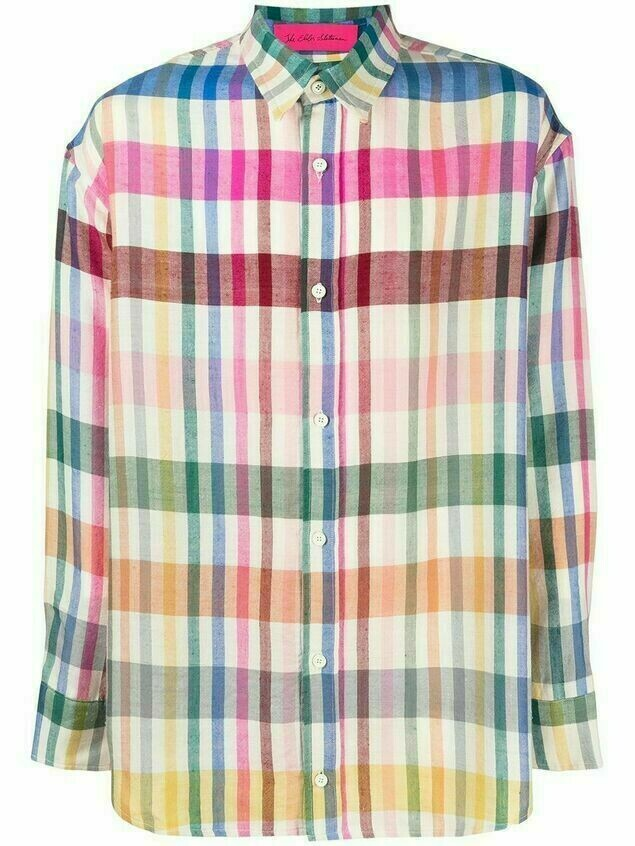 The Elder Statesman check-print cashmere shirt - Neutrals
