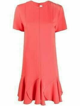 Victoria Victoria Beckham flared hem short dress - Orange