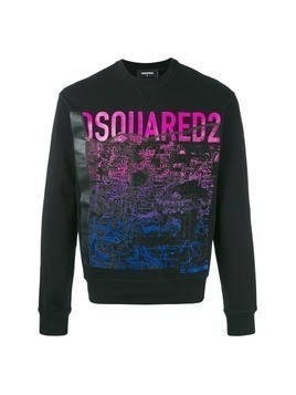 Dsquared2 mountain print sweatshirt - Black