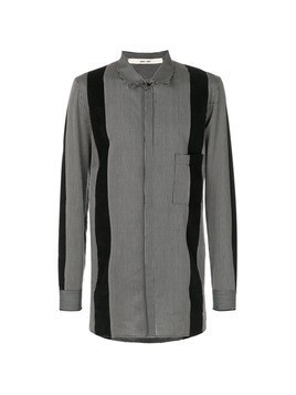Damir Doma panelled striped shirt - Black