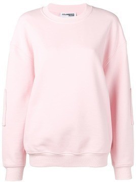 Courrèges panelled embroidered logo sweatshirt - Pink