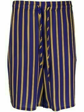 Esteban Cortazar striped bermuda shorts - Blue