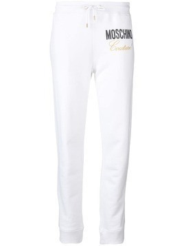 Moschino logo track pants - White