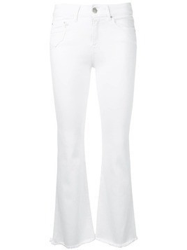 Don't Cry skinny fringed flare jeans - White