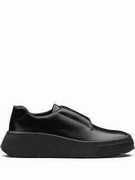 Prada brushed leather Derby shoes - Black